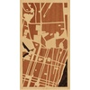 "9""x16"" Woodcut Map of Guayaquil"