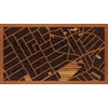 "16""x9"" Woodcut Map of Quezon City"