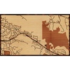 "30""x18"" Woodcut Map of Danville"