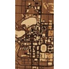 "9""x16"" Woodcut Map of Notre Dame"