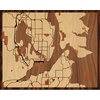 "20""x16"" Woodcut Map of Bremerton"