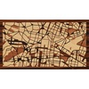 "16""x9"" Woodcut Map of Mexico City"