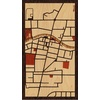 "9""x16"" Woodcut Map of Brockport"