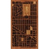 "9""x16"" Woodcut Map of Arlington Heights"
