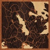 "8""x8"" Woodcut Map of Finland"