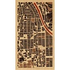 "9""x16"" Woodcut Map of 京都市"