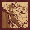 "8""x8"" Woodcut Map of East Bay"