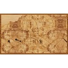 "30""x18"" Woodcut Map of Zagreb"