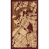 "9""x16"" Woodcut Map of Brooklyn"