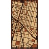 "9""x16"" Woodcut Map of Mexico City"