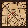 "8""x8"" Woodcut Map of North Bellmore"