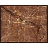 "20""x16"" Woodcut Map of Little Rock"