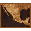 "20""x16"" Woodcut Map of Zacatecas"