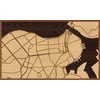 "30""x18"" Woodcut Map of Havana"