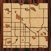 "8""x8"" Woodcut Map of Fort Collins"