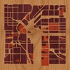 "8""x8"" Woodcut Map of Denver"