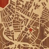 "8""x8"" Woodcut Map of Boston"