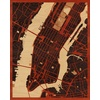 "16""x20"" Woodcut Map of New York"