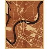 "16""x20"" Woodcut Map of Chattanooga"