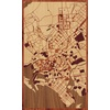 "18""x30"" Woodcut Map of Karachi"