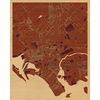"16""x20"" Woodcut Map of Karachi"