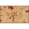 "30""x18"" Woodcut Map of Columbus"