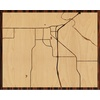 "20""x16"" Woodcut Map of Burkburnett"