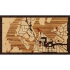 "16""x9"" Woodcut Map of Gig Harbor"