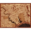 "20""x16"" Woodcut Map of Toronto"