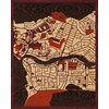 "16""x20"" Woodcut Map of Lagos"