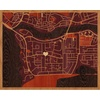"20""x16"" Woodcut Map of Lagos"