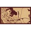 "16""x9"" Woodcut Map of Castro Valley"