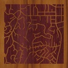 "8""x8"" Woodcut Map of Tarzana"