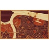 "30""x18"" Woodcut Map of Belgrade"