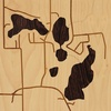 "8""x8"" Woodcut Map of Irons"