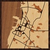 "8""x8"" Woodcut Map of Bacolod"