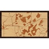 "16""x9"" Woodcut Map of Eagle River Chain of Lakes"