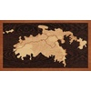 "16""x9"" Woodcut Map of St. John"