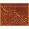 "20""x16"" Woodcut Map of Carson City"