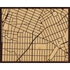 "20""x16"" Woodcut Map of Bronx"