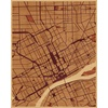 "16""x20"" Woodcut Map of Detroit"