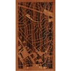 "9""x16"" Woodcut Map of Rockville"