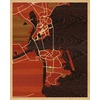 "16""x20"" Woodcut Map of Taipa"