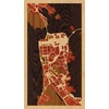 "9""x16"" Woodcut Map of San Francisco"