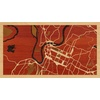 "16""x9"" Woodcut Map of Chattanooga"