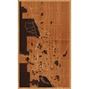 "18""x30"" Woodcut Map of Colorado Springs"