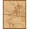 "16""x20"" Woodcut Map of Clinton"