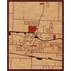 "16""x20"" Woodcut Map of Spencerport"