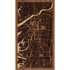 "9""x16"" Woodcut Map of 大阪市"