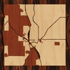 "8""x8"" Woodcut Map of Colorado Springs"